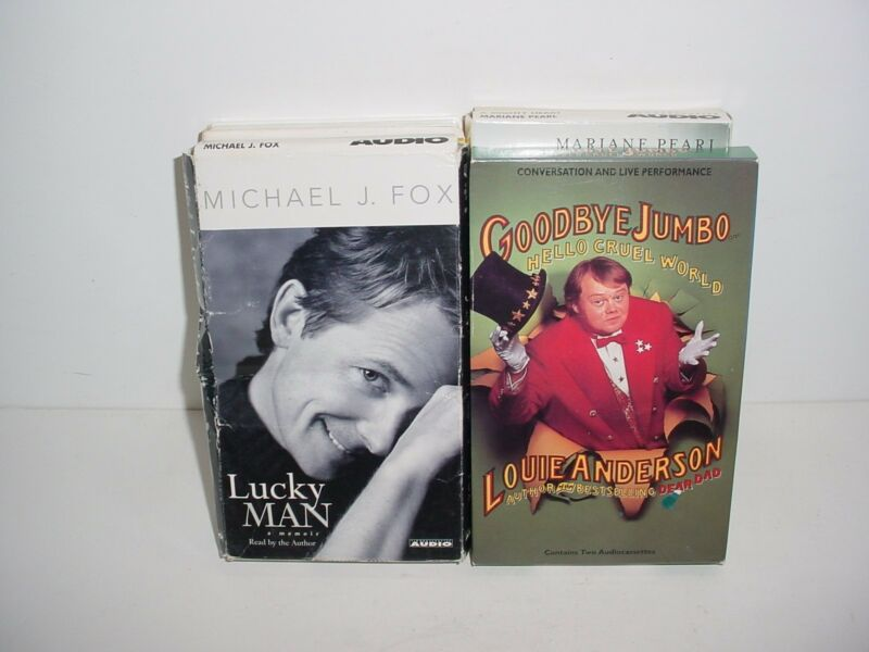 Lot of 4 Autobiography Cassette Tape Audio Books