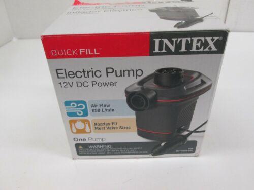 INTEX QUICK FILL ELECTRIC PUMP W/ 3 ASSORTED NOZZLES INFLATES/DEFLATES - AK 1564