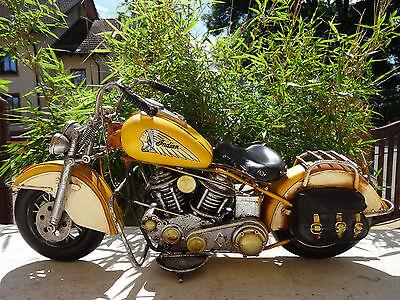 Motorrad INDIAN Summer Spirit Bike Harley Blech Retro Nostalgie Deko Geschenk