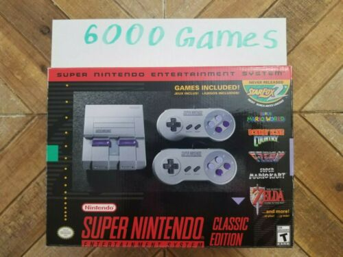 Nintendo SNES Super Classic Mini 6000 Games Console Free USPS Shipping In Stock