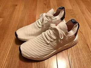 Adidas NMD Boost R2 White Black Sz 11