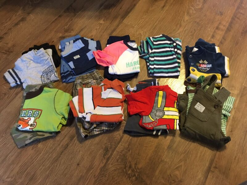 Baby Toddler Boys Size 12-18 Months Summer Clothes Lot Of 16 Pcs.~outfits~carter