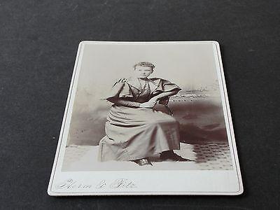 1890's-Pretty Fashionable Woman-Cabinet Card Photo by Fitz & Co. Art Studio.