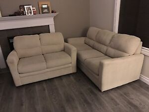 Beautiful sofa and love seat. Great condition.