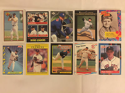 Lot of 10 ROGER CLEMENS Assorted Baseball Cards - Lot #4