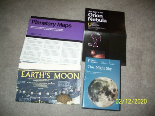 Our Night Sky DVDs, Planetary Maps, Earth