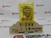 Image Idec RR3B-U Relay 24 VDC w/ Allen-Bradley 700-HN154 Relay Socket Base Ser. A