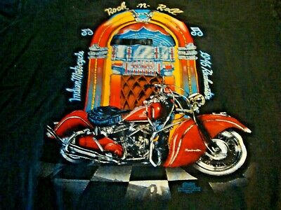 Vintage 1993 Indian Motorcycle Rock & Roll T-shirt Large