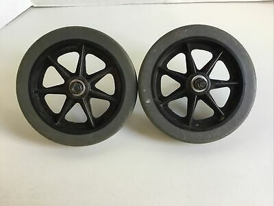 """LOT of 2 SPOKE WHEELS 6"""" x 7/8"""" Wagon / Buggy / Cart / Toy / Project  Nice"""