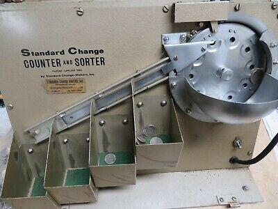 Standard Change Coin Counter Sorter - - Tested Working - - Portable - Vintage