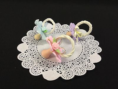 Porcelain Pacifier (Baby Shower Pacifier Cake Topper, Cold Porcelain, Baby)