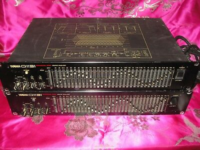 Yamaha Q1131 1/3 Octave Equalizer Pair w/notch filters high pass low pass