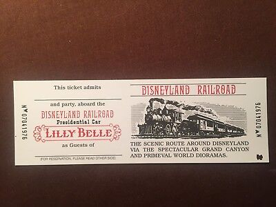 Disneyland Railroad Lilly Belle Presidential Car Commemorative Ticket