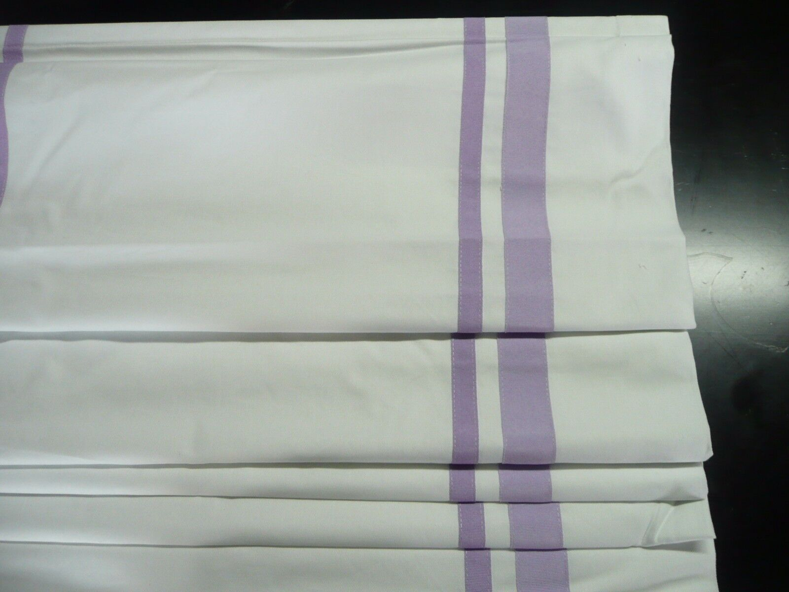 Pottery Barn Harper Ribbon Roman Shade Lavender 32x64 Cordless More
