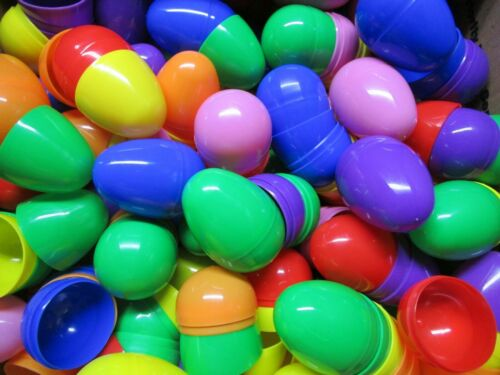 50 Pieces Easter Eggs Plastic Egg Multi Color Holiday Decor Fun Toy Lot Set New