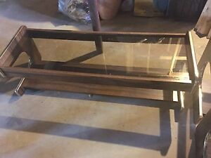 Glass coffee table + end tables