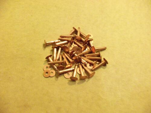 """Copper Rivets & Burrs 3/4"""" 12 Gauge SCA (1 Pound)"""