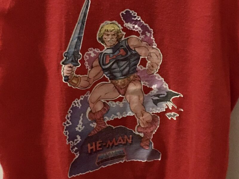 """Vintage 80s Boys Shirt """"He-Man"""" Masters Of The Universe- Size 7"""