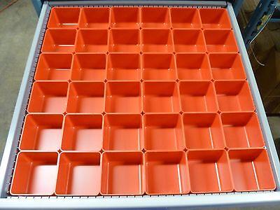 """36  4""""x 4""""x3""""  Plastic Box fit Lista Vidmar Toolbox Organizers Dividers Cups Bin"""
