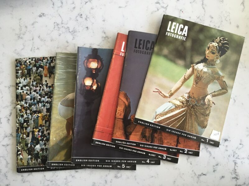 VINTAGE LEICA FOTOGRAPHIE 1967 FULL YEAR BACK ISSUES ENGLISH CAMERA PHOTOGRAPHY