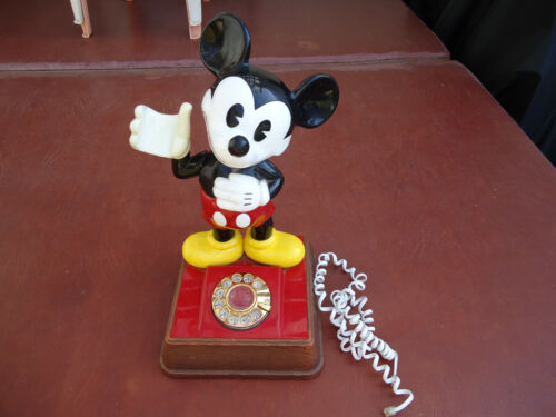 Vintage Mickey Mouse Rotary Dial Telephone Walt Disney Collectible