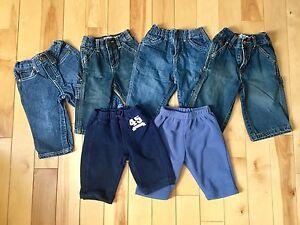 6-9m pants - mixed brands - EUC