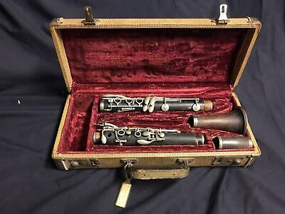Antique C G Conn Clarinet 1908-1909 Vintage Reed Mouthpiece Instrument w/ Case