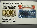 GEORGIA TAGS AND TOPPERS