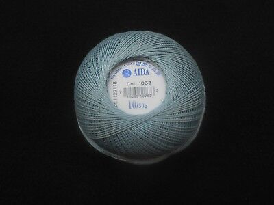 Coats Aida Crochet Cotton Thread 50g Size 10 Colour Petrol