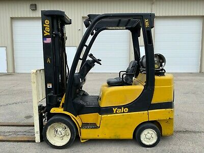 Yale Glc070vxngse088 7000 Capacity Forklift Hilo Compact Lift Truck Lpg Hyster