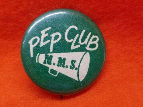 Vintage MMS Pep Club Cheerleader High School Button Pinback