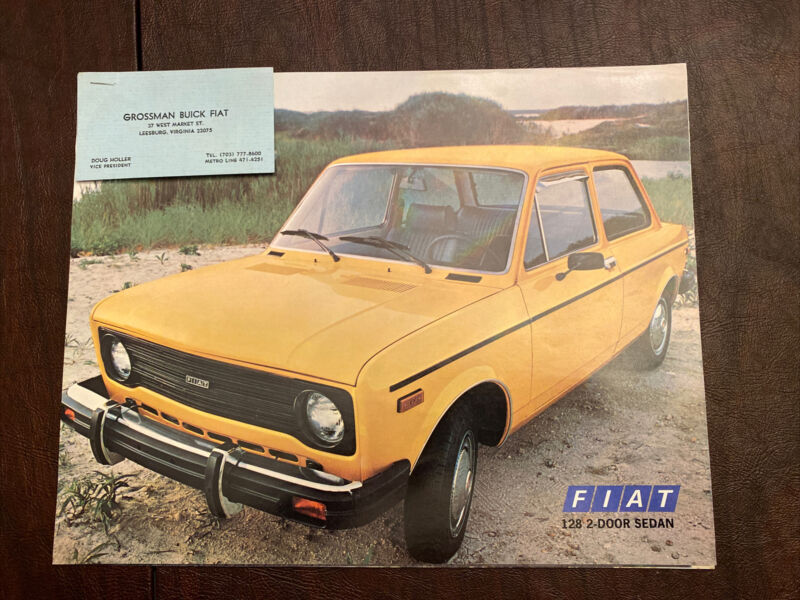 Fiat 128 And 131 Set Of 6 Single Sheet Brochures Original Excellent Condition