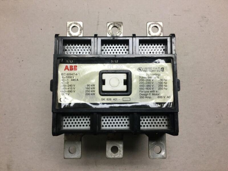 ABB EH300 Contactor 480 Volt Coil