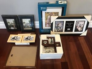 10 photo frames. 9 are brand new.