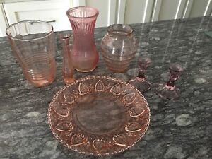 Beautiful Pink Coloured Glassware
