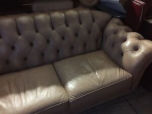 Moran chesterfield style leather   rose gold lounge Ingle Farm Salisbury Area Preview