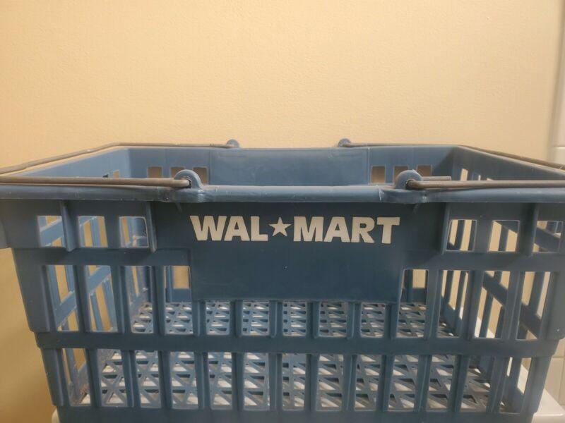 Vintage Full Size Walmart Shopping Basket Gray
