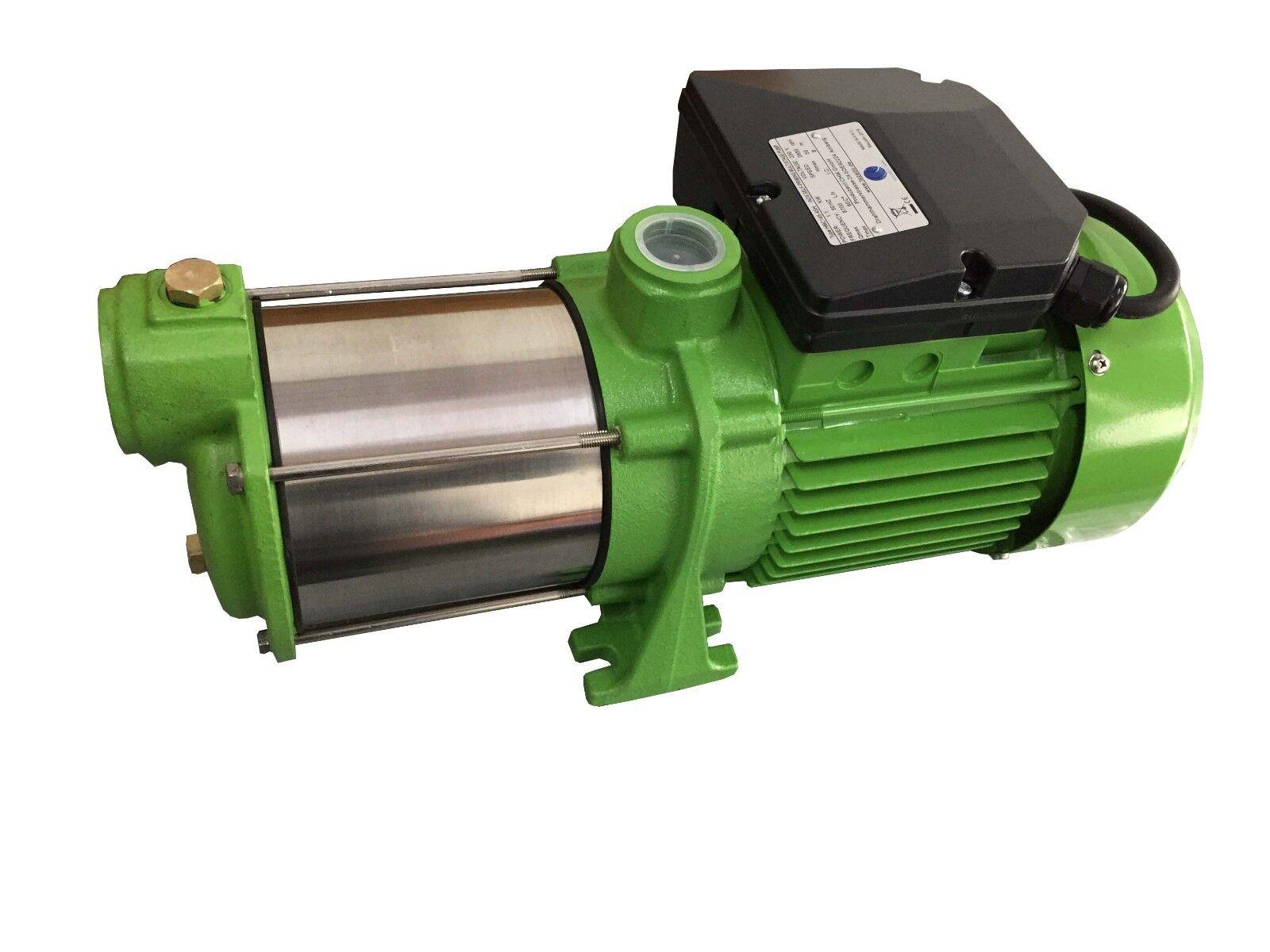 CHM GmbH Kreiselpumpe Edelstahl 1,1 Kw 9000 L/h Gartenpumpe Pumpe Hauswasserwerk