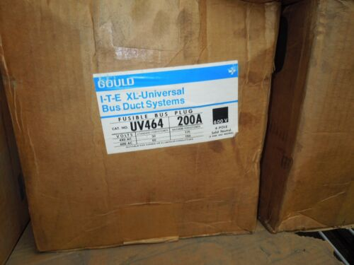 Gould Ite Uv464 200a 3ph 4w 600v Fusible Busplug New Surplus In Box