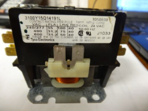 """Tyco Electronics Contactor 3100Y15Q14191L;24VAC 50/60 HZ;  ----""""USED"""""""