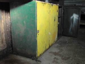 SOLID LOCKABLE METAL CABINET WITH 3 COMPARTMENTS & INNER SHELF Broken Hill Central Broken Hill Area Preview