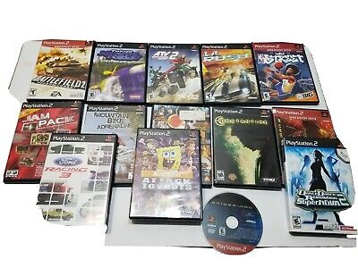 PS2 Game Lot Spiderman 1 and 2, Constantine, see pics 14 games total