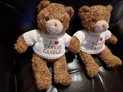 "2 Yankee Candle TEDDY BEARS Sweater Soft Blanket Fragrance Scent 12"" Teddy Bear"