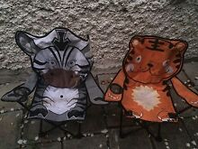 Two cute vintage kids picnic chairs Charlestown Lake Macquarie Area Preview