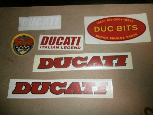 6 Ducati  Motorcycle   Decals Stickers  Duc Bits Italian Legend