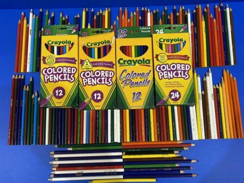 Crayola Colored Pencils Lot of 233 Pencils Multiple Colors ALL CRAYOLA
