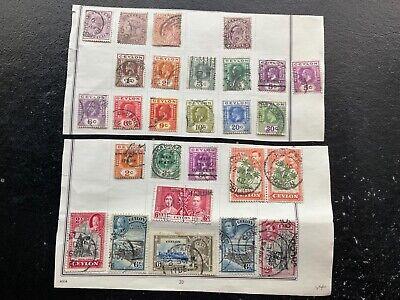 EARLY CEYLON stamps selection SRI LANKA