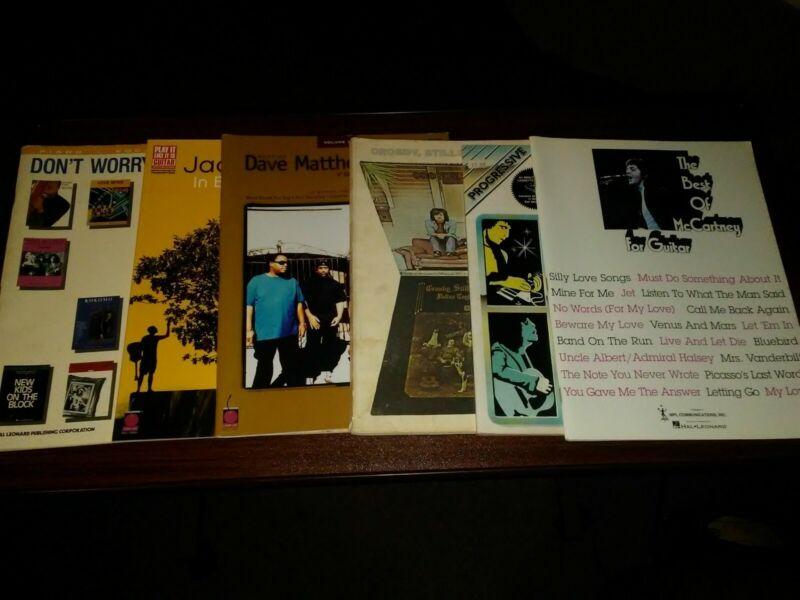 Lot Of 6: Guitar Tablature Books