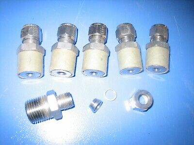 Gyrolok  Stainless Steel  Fittings 12 Np  X 38  Tubing 6
