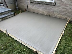 Concrete pads for sheds end of season special ****